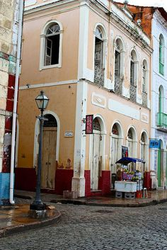 Beco da Catarina street corner.Sao Luis.Maranhao.Brazil