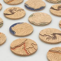 These topographical cork coasters ($40). | 25 Marvelous Gifts That'll Make You A Better Person