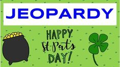 Do you know what your odds are of finding a four-leaf clover or the country St. Patrick was actually from (it's not Ireland)? This Jeopardy game is a fun and educational activity for students made to teach them about the history and of St. Patrick's Day in a fun and interactive way.