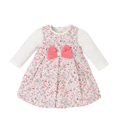 Floral Cord Dress and Bodysuit Set- Mothercare