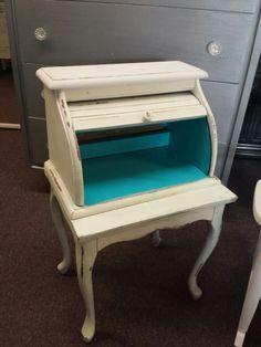 Bread box & small table to make a mini roll top desk