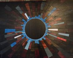 wood wall art   the URBAN SOMBRERO  wooden wall by StainsAndGrains