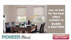 Pioneer Blinds is one of the foremost companies in the field of #windowblinds manufacturing that have attracted many customers. With us, you can choose from our variety of blinds, suiting your tastes and harmonies. Get in touch with us; we are just a one call away!