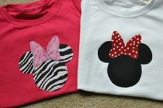 "How To Make an Iron On Applique of Minnie Mouse ""Easy"" Evening project"
