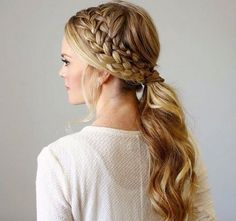 messy+double+braid+and+low+pony