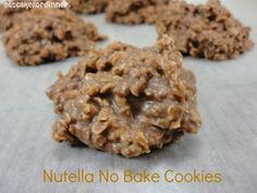 Nutella No Bake Cookies
