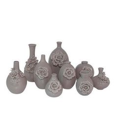 Another great find on #zulily! Silver Ceramic Vase Set #zulilyfinds.        I'd love this in another color!