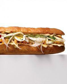 Chickpea Sub Sandwich