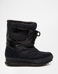 619219c3889 adidas Originals Snowrush Black Snow Boots at asos.com