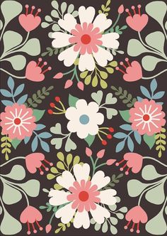 surface pattern design, illustration and artwork. Iphone 6 Wallpaper, Plant Wallpaper, Pretty Patterns, Beautiful Patterns, Led Art, Textile Patterns, Textiles, Killer Queen, Diy Phone Case