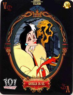 Cruella De Vil (Cards by Maleficent84 @deviantART) #101Dalmatians