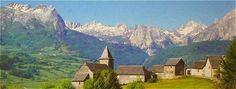 Panorama sur Lescun et les Pyrénées