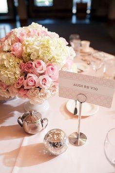 wedding flowers. Table centerpiece. Pink. Green. Peach. White