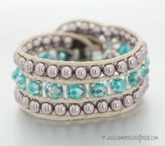 Starting your bracelet The double ladder stitch Finishing your bracelet Add an outer layer: Part 1 & Part 2 Okay, so you know how to make a wrap bracelet(like the one below), and you want to make it wider! To make the above bracelet look like this one, all you …