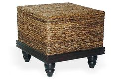 Tropical Abaca End Table w/ Storage on OneKingsLane.com COOL - END TABLES WITH STORAGE NOT JUST OTTOMANS