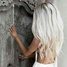 Ice blonde dark roots