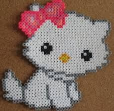Very easy to make if you have the beads. Cute cat with a bow.
