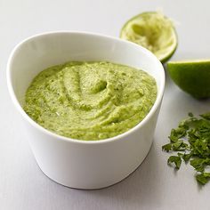 WW Avocado Lime Dip 2 pts per serving. Looks delish!