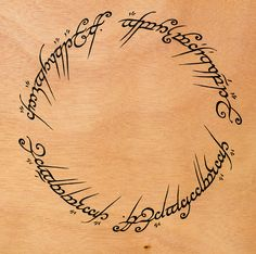the one ring writing tattoo - Google Search