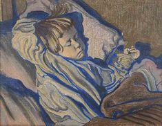 Mietek Sleeping by Stanisław Wyspiański on Curiator, the world's biggest collaborative art collection. Photo Art, Art Appreciation, Drawings, Digital Museum, Culture Art, Painting, Blue Art, Art, Portrait Painting