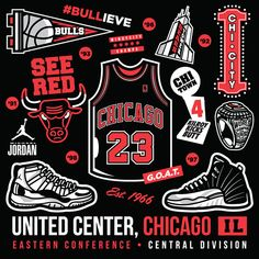 A piece illustrated by AJ Salazar aka Kid Ninja featuring all things a Michael Jordan and Chicago Bulls fan identifies with today. Air Jordan, Jordan Logo, Logo Chicago Bulls, Jordan Painting, Michael Jordan Art, Fan Poster, Basketball Art, Jordan Basketball, Nba Wallpapers