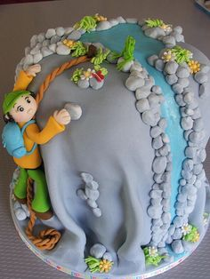 Cute cake decoration, perfect for rock climbing lovers