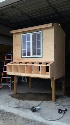 Chicken coop in the making