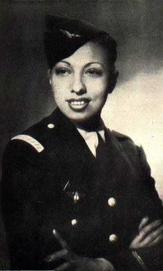 """Ms. Josephine Baker Overcoming the limitations imposed by the color of her skin, she became one of the world's most versatile entertainers, performing on stage, screeen and recordings. Josephine was decorated for her undercover work for the French Resistance during World War II. She was a civil rights activist. She refused to perform for segregated audiences and integrated the Las Vegas nightclubs. She adopted twelve children from around the world whom she called her """"Rainbow Tribe."""""""