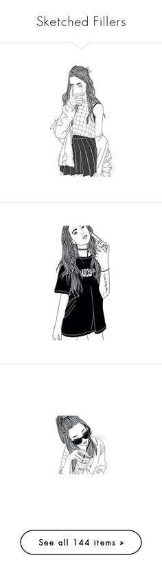 """""""Sketched Fillers"""" by bluebirdi ❤ liked on Polyvore featuring fillers, drawings, doodles, backgrounds, outlines, text, magazine, quotes, phrase and saying"""