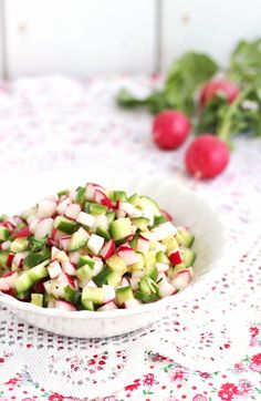 Springtime radish cucumber salsa | www.ricottaandradishes.com