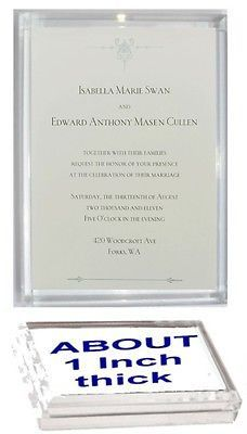 Acrylic Twilight Breaking Dawn Wedding Invitation prop Display Piece Paperweight