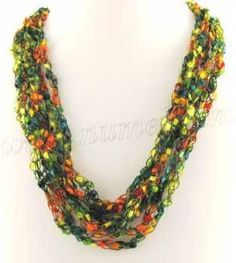 Free Crochet Pattern: Ladder Ribbon Necklace Pattern 1