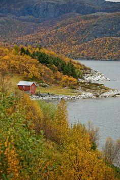 """""""My homeplace, a little place outside Alta, Finnmark in Norway"""" Mette Balandin"""