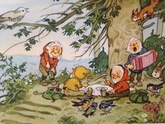 Fritz Baumgarten Baumgarten, Kobold, Postcard Art, Woodland Creatures, Forest Animals, Children's Book Illustration, Vintage Advertisements, Faeries, Illustrators