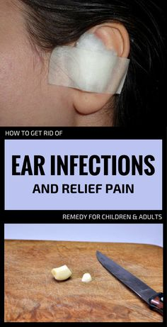 Common colds may aggravate, especially in children, leading to ear infections or larynx and sinus infections. And the strong pain caused by ear infections is unbearable. The good news is that you can prevent it Natural Home Remedies, Herbal Remedies, Health Remedies, Ear Pain Remedies, Earache Remedies, Sinus Infection, Garlic For Ear Infection, Ear Infection Relief, Natural Ear Infection Remedy