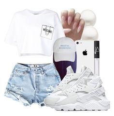 """""""~QUANIE~"""" by honey-cocaine1972 ❤ liked on Polyvore featuring Reeds Jewelers, Moschino, NARS Cosmetics and NIKE"""