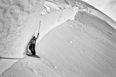 """Helicopter avalanche control work resulting in a 13 ~ 15 ft crown measured by Peter """"PJ"""" Moran"""