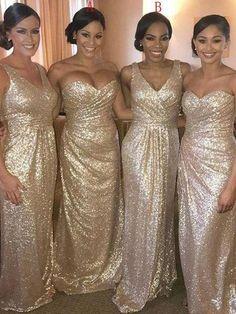 Rose Gold Sparkly Mismatched Sequin Long Bridesmaid Dresses, Cheap Unique Custom Long Bridesmaid Dresses, Affordable Bridesmaid Gowns, BD104  #bridesmaid #wedding #bridesmaiddresses #cheapbridesmaiddresses #weddingidea #longbridesmaiddresses #bridesmaidsdresses Gold Bridesmaids, Affordable Bridesmaid Dresses, Mismatched Bridesmaid Dresses, Wedding Dresses, Bridesmaid Gowns, Affordable Dresses, Unique Dresses, Gold Sparkly Bridesmaid Dresses, Sparkly Dresses