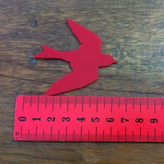 1 Swooping Swallow Acrylic Laser Cut Acrylic Supplies - choose from 22 colours