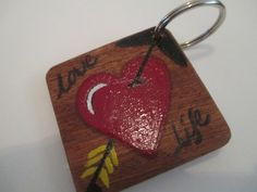 Make Memento Love Life Keyring by MakeMemento on Etsy, £3.99