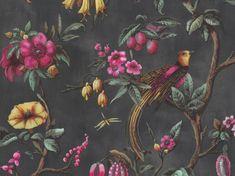 Tapeta BN FIORE 220441 Bloom, Motifs Animal, Wallpaper Roll, Vintage Colors, Decoration, Vintage Designs, Paradise, Tropical, Birds