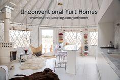 Granny pods shed Yurta moderna en Wyom - grannypods Yurt Living, Tiny Living, Living Spaces, Granny Pods, Yurt Interior, Glamping, Yurt Home, Wyoming, Modern Architects
