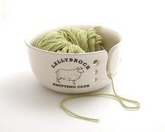 Outlander - Lallybroch yarn bowl - knit bowl - ceramic yarn bowl - Claire Fraser…
