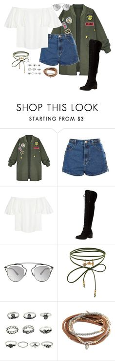 """""""save me (outfit 15)"""" by kierstin518 on Polyvore featuring WithChic, Topshop, Valentino, Lucky Brand, Christian Dior and Accessorize"""