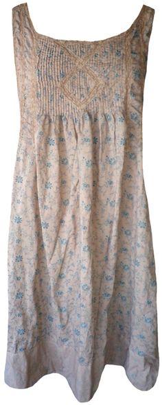Magnolia Pearl: Grandma Brown floral print Mittie Slip Dress . <3