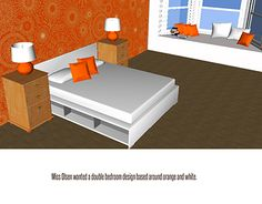 """Check out new work on my @Behance portfolio: """"Orange Bedroom, Moodboard"""" http://on.be.net/1ed96EZ"""