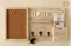 47 Rustic Mail Organizer and Key Holder For Your Home Improvement – – Home Decor On A Budget Decoration Palette, Home And Deco, Home Projects, Diy Furniture, Diy Home Decor, Diy And Crafts, Home Improvement, Sweet Home, Wall Decor