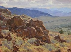 Outcrop with a View by Jean LeGassick Oil ~ 9 x 12