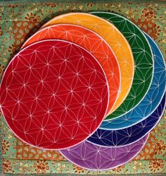 Chakra Crystal Grids by RedCoyoteMoon on Etsy, $75.00