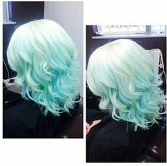 Mint hair ombre blond